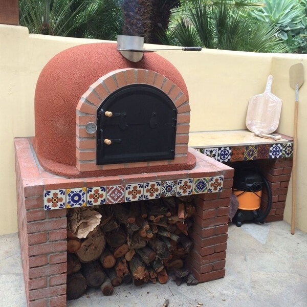 how to clean stain from pizza oven bricks