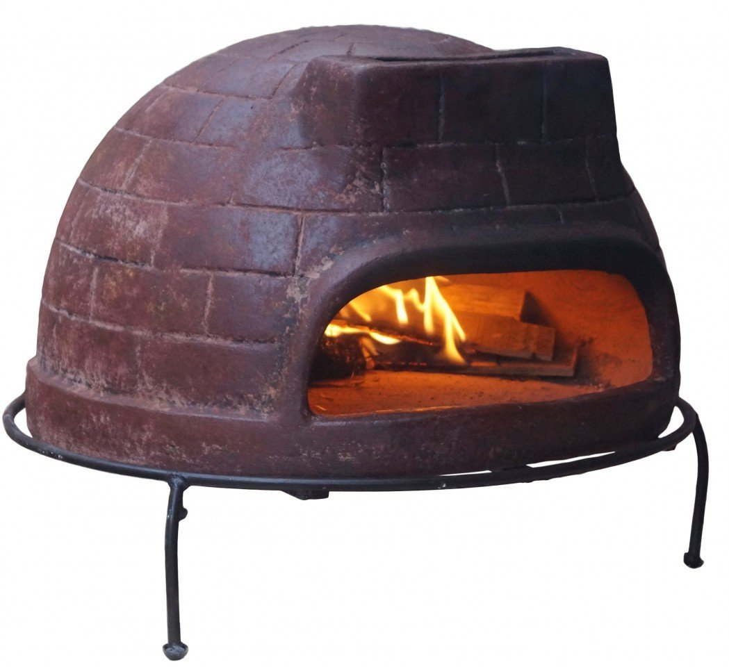 Garden Outdoor Wood Fired Pizza Oven: Stone Baked BBQ (Including Peel Rake)